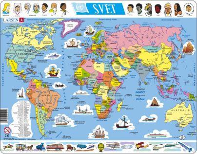 Larsen Výukové puzzle Mapa Svět