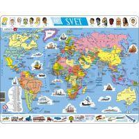"""Larsen 22101 - Výukové puzzle Mapa """"Svět"""""""