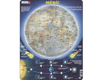 Larsen Výukové puzzle Měsíc mapa