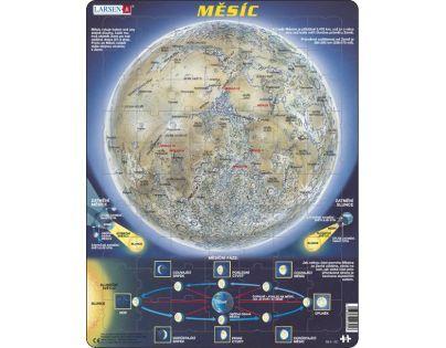 Larsen 22305 - Výukové puzzle Měsíc - mapa