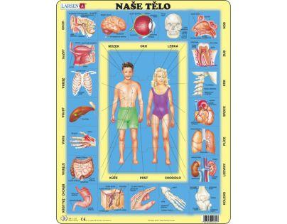 Larsen Výukové puzzle Naše tělo