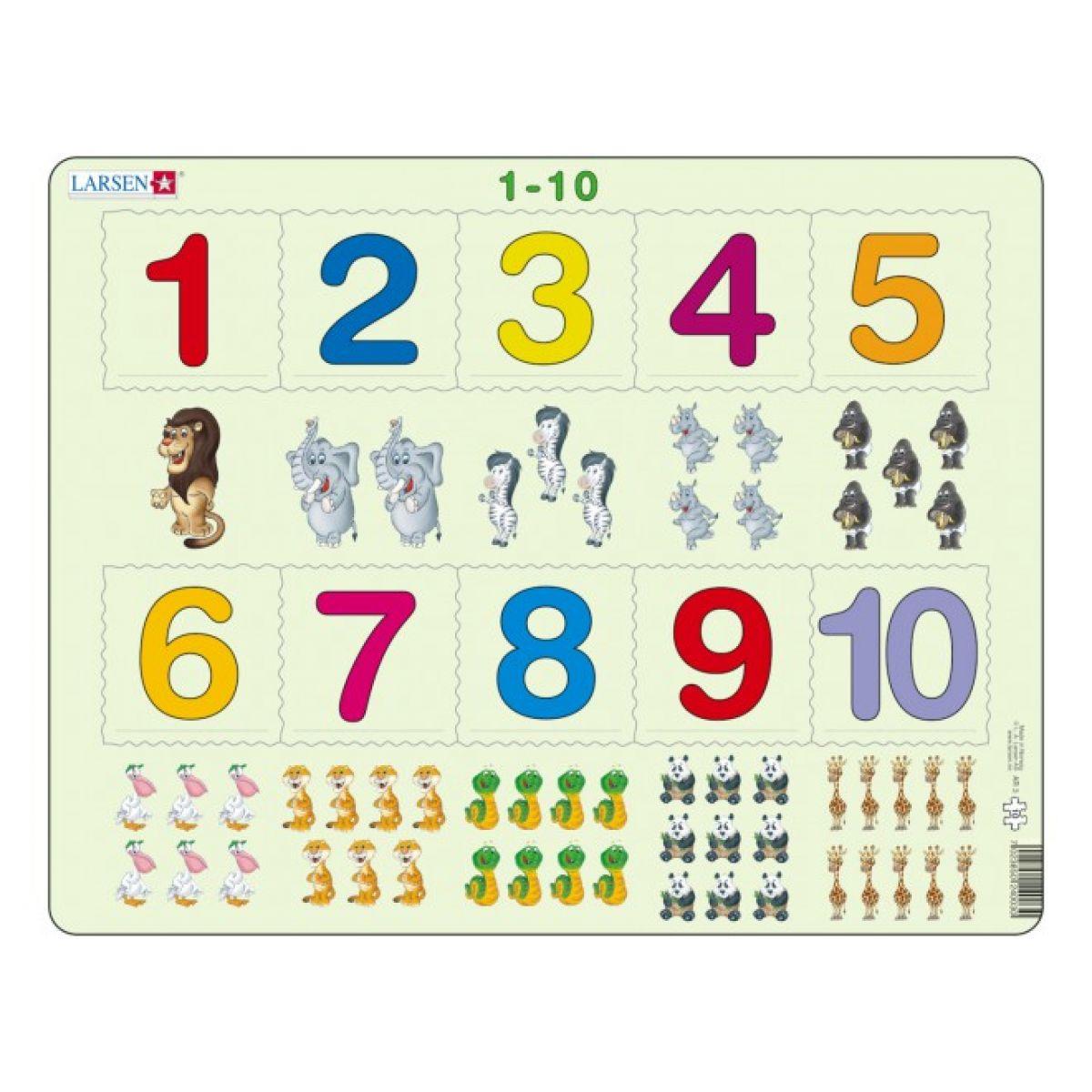 Larsen 24002 - Výukové puzzle Počítání pro nejmenší s obrázky