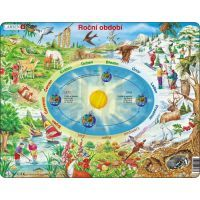 Larsen 22303 - Výukové puzzle Roční období