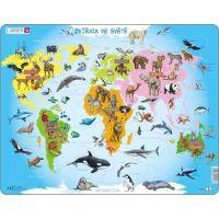 Larsen Puzzle Zvířata ve světě