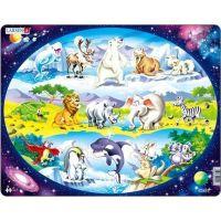 Larsen Puzzle Zvířátka ve světě