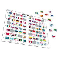 Larsen Výukové puzzle Vlajky světa