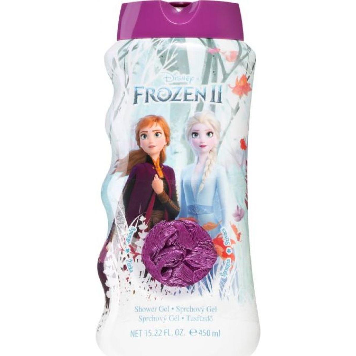 Ledové království 2 Koupelový a sprchový gel s houbičkou 450 ml