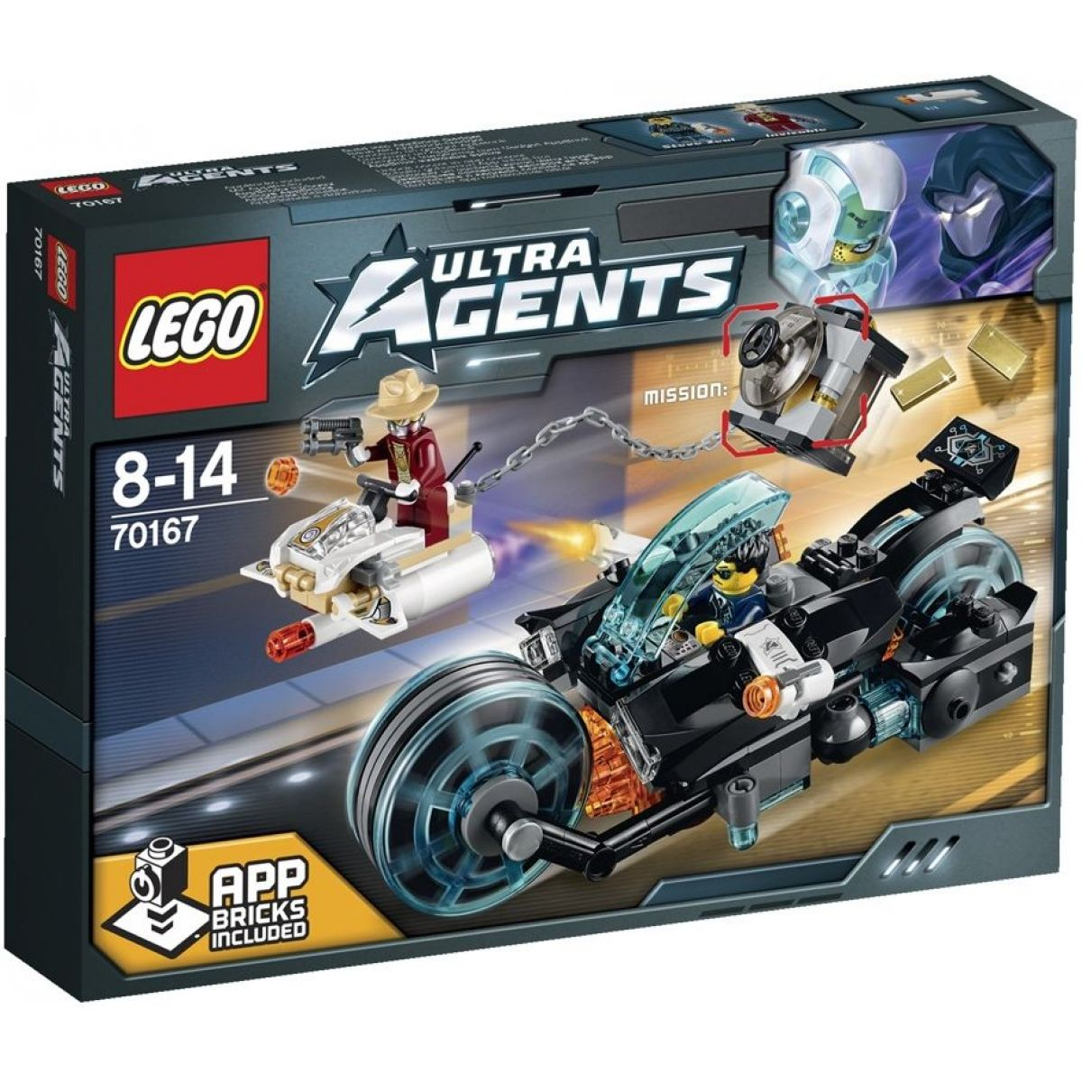 LEGO Agents 70167 - Invizable utíká se zlatem
