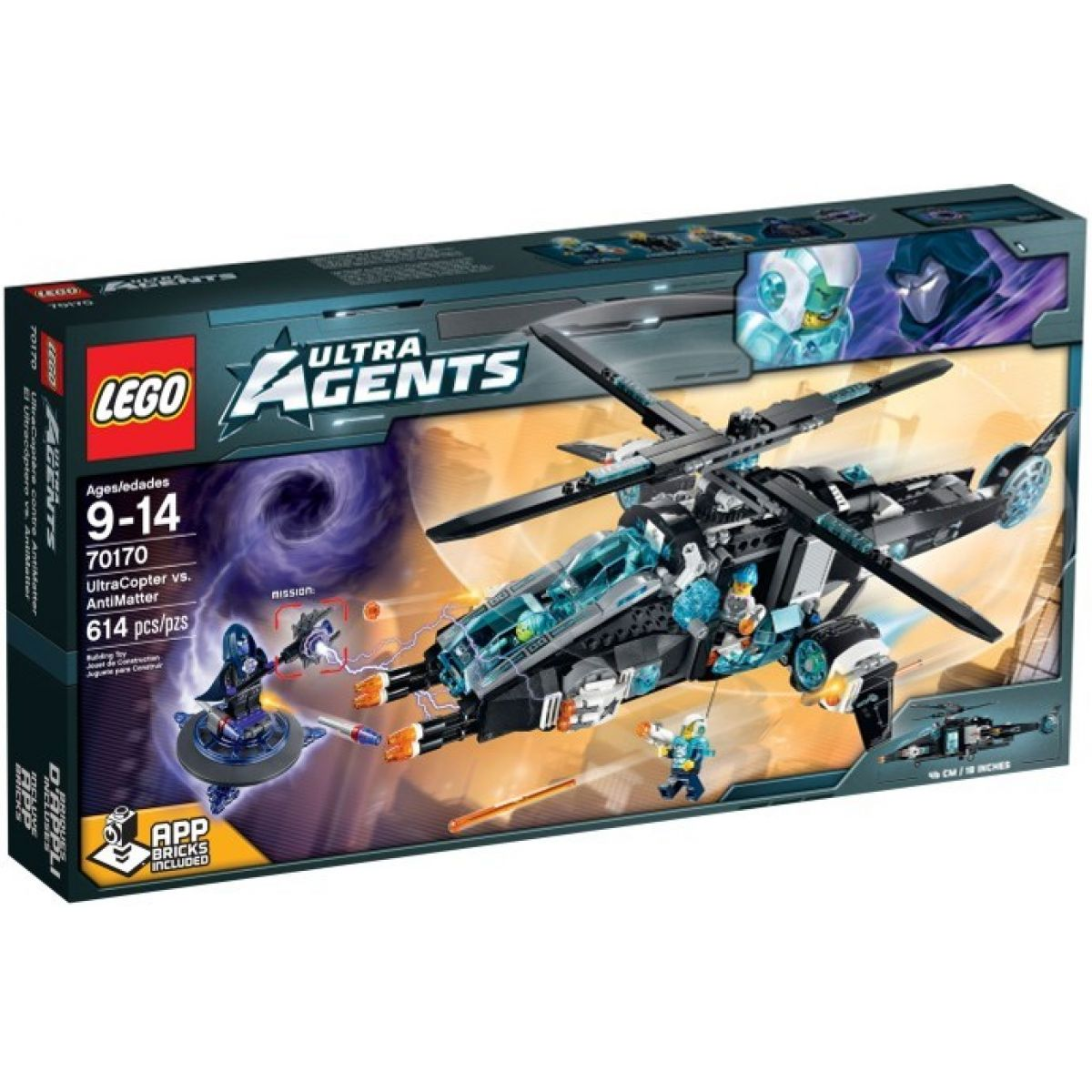 LEGO Agents 70170 - UltraCopter vs. AntiMatter