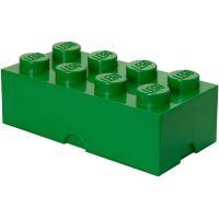 LEGO Box na svačinu 10 x 20 x 75 mm Tmavě zelená