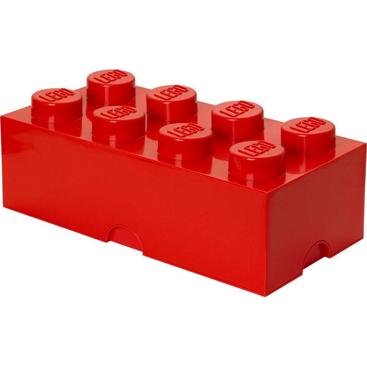 LEGO Box na svačinu 10 x 20 x 7,5 cm Červená
