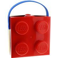 LEGO box s rukojetí červená