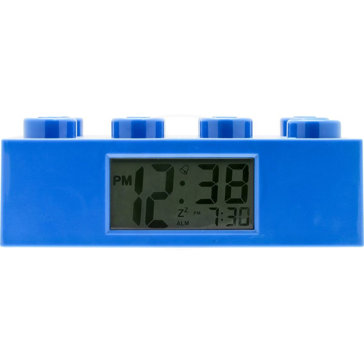 LEGO Brick Hodiny s budíkem modré