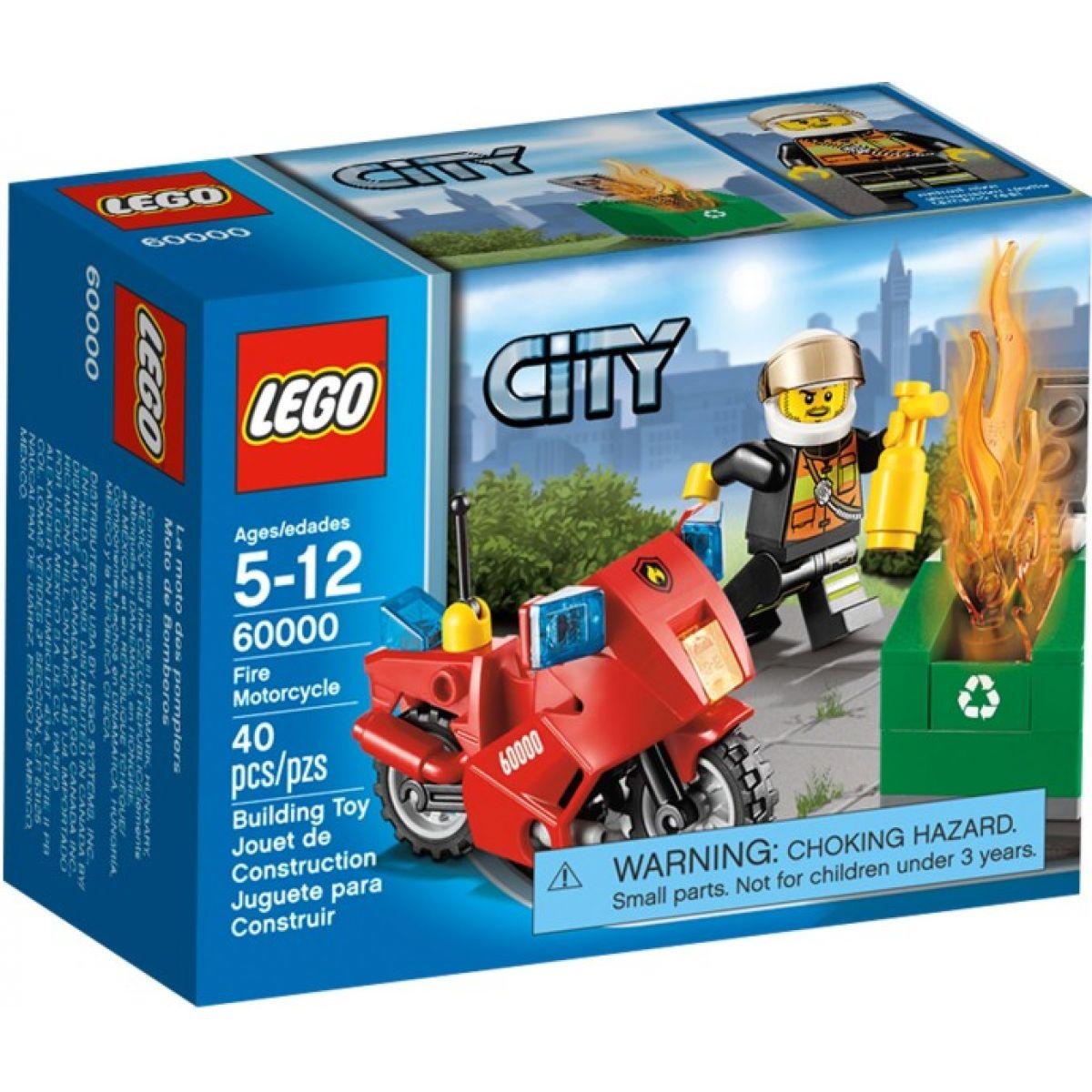 LEGO CITY 60000 Hasičská motorka