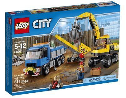 LEGO City Demolition 60075 - Bagr a náklaďák