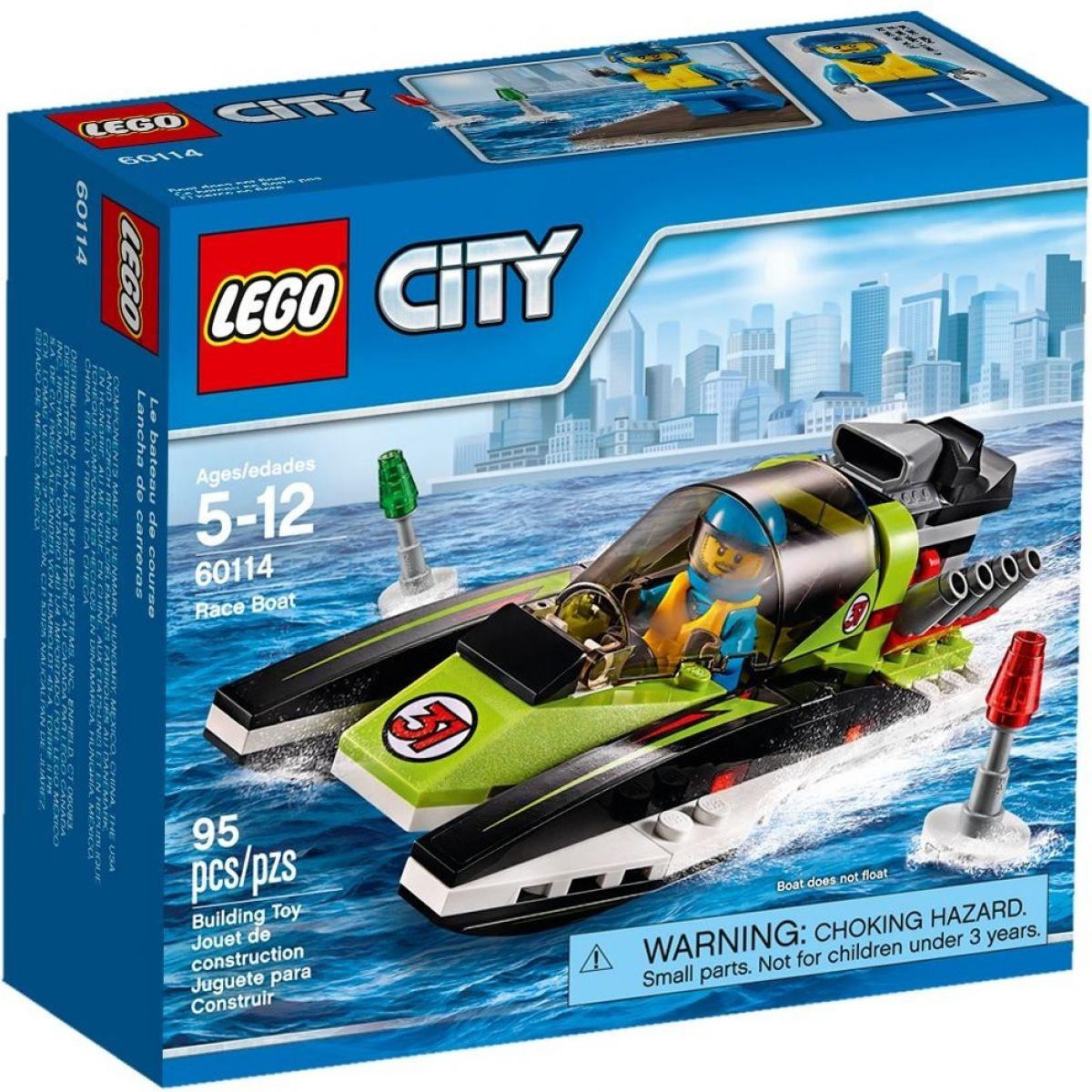 LEGO City 60114 Závodní člun