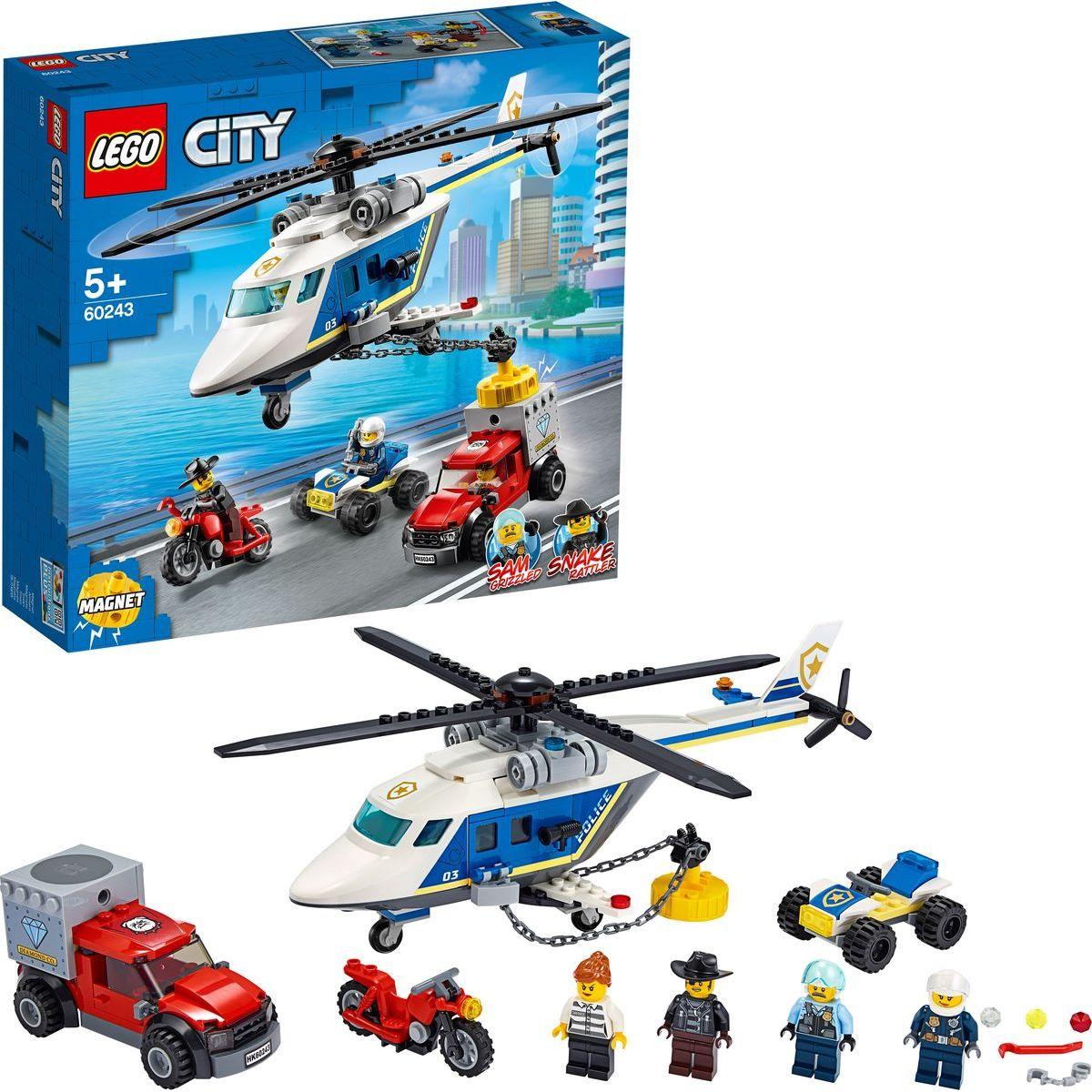 LEGO® City 60243 Prenasledovanie policajnou helikoptérou