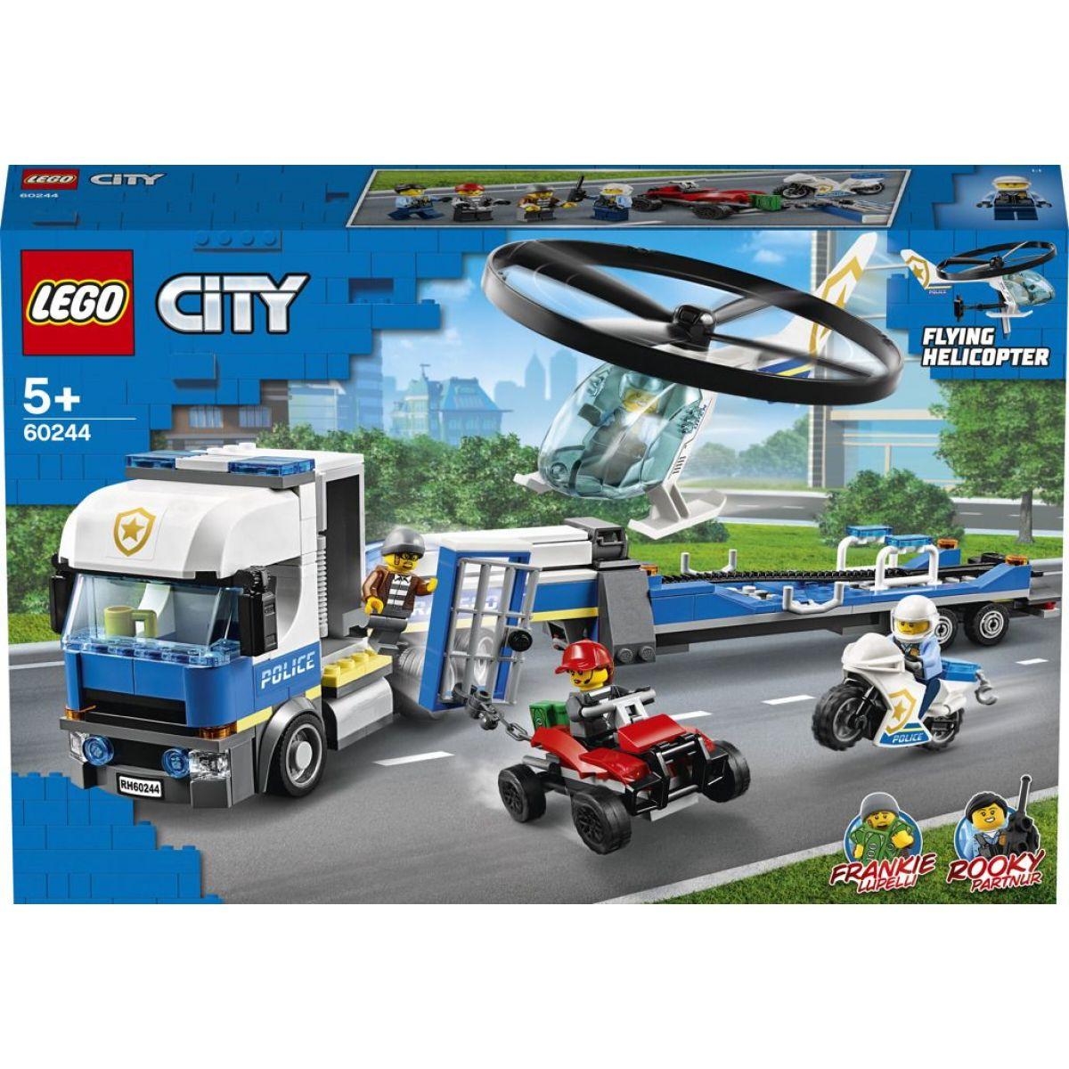 LEGO City 60244 Preprava policajnej helikoptéry - Poškodený obal