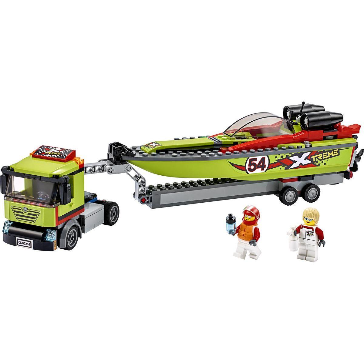 LEGO City 60254 Preprava pretekárskeho člnu - Poškodený obal