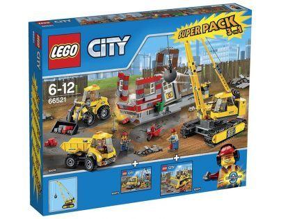 LEGO City 66521 Velká sada Demolice Super Pack 3v1