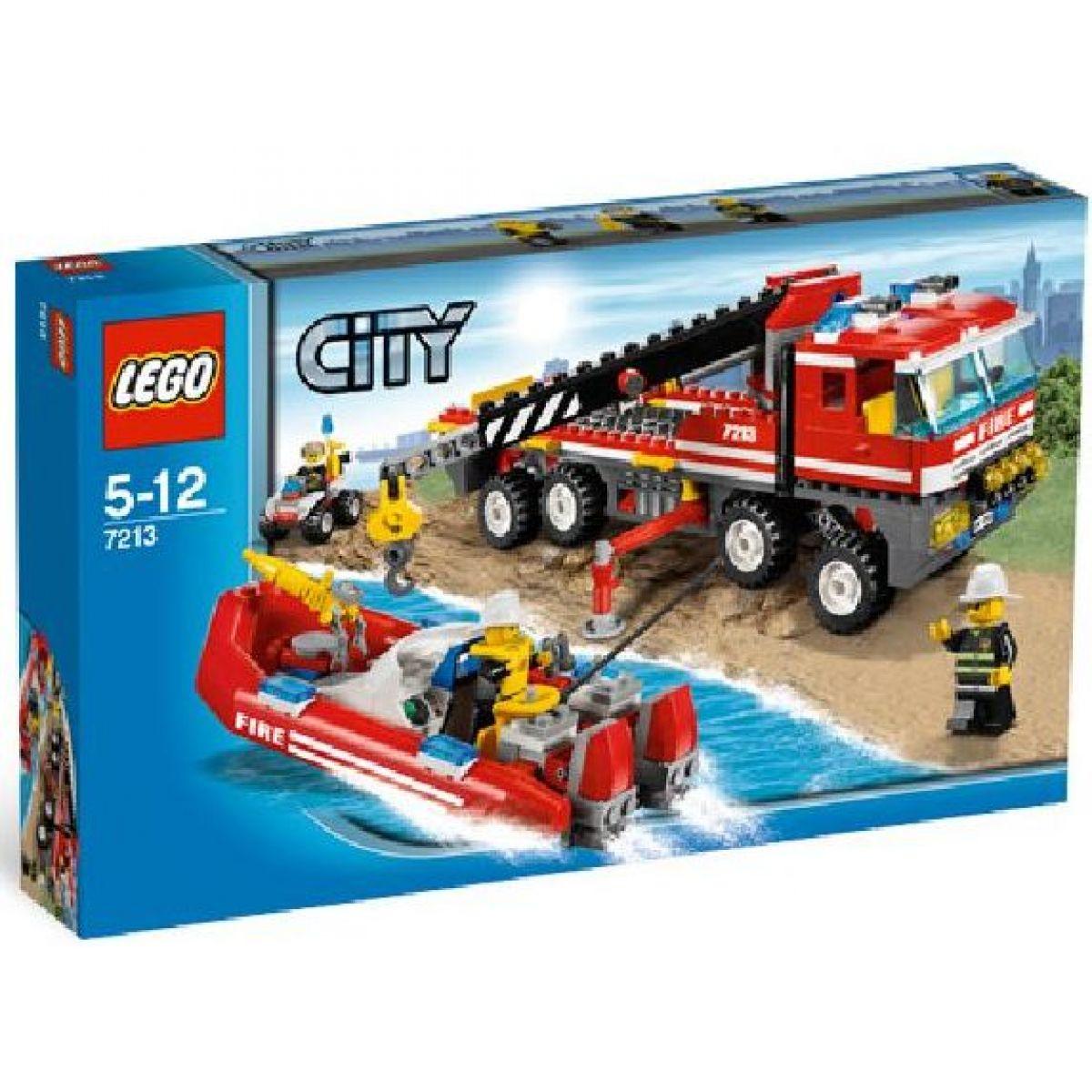LEGO CITY 7213 Hasičské auto se člunem