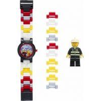 LEGO City Fireman - hodinky s minifigurkou