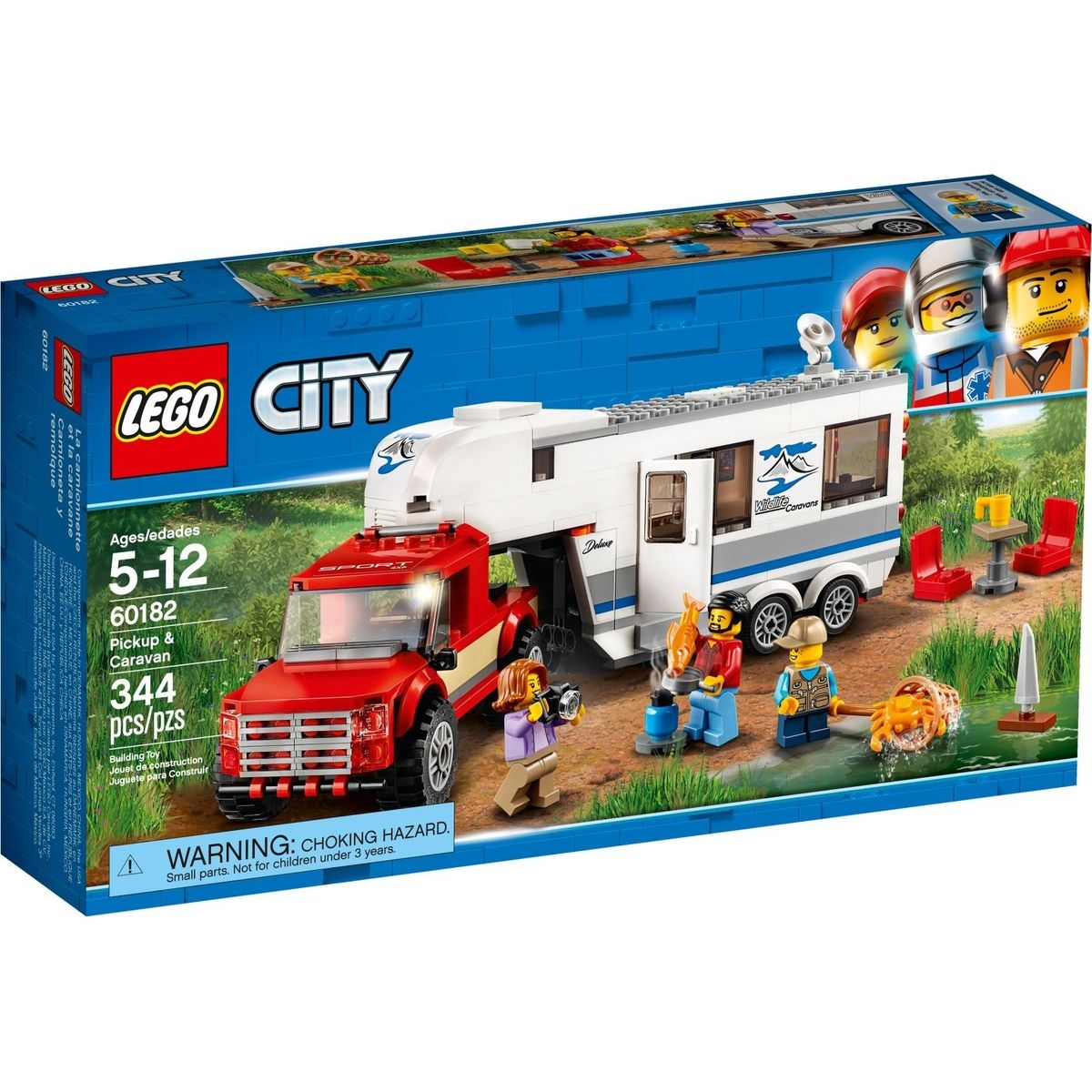 Fotografie LEGO City Great Vehicles 60182 Pick-up a karavan