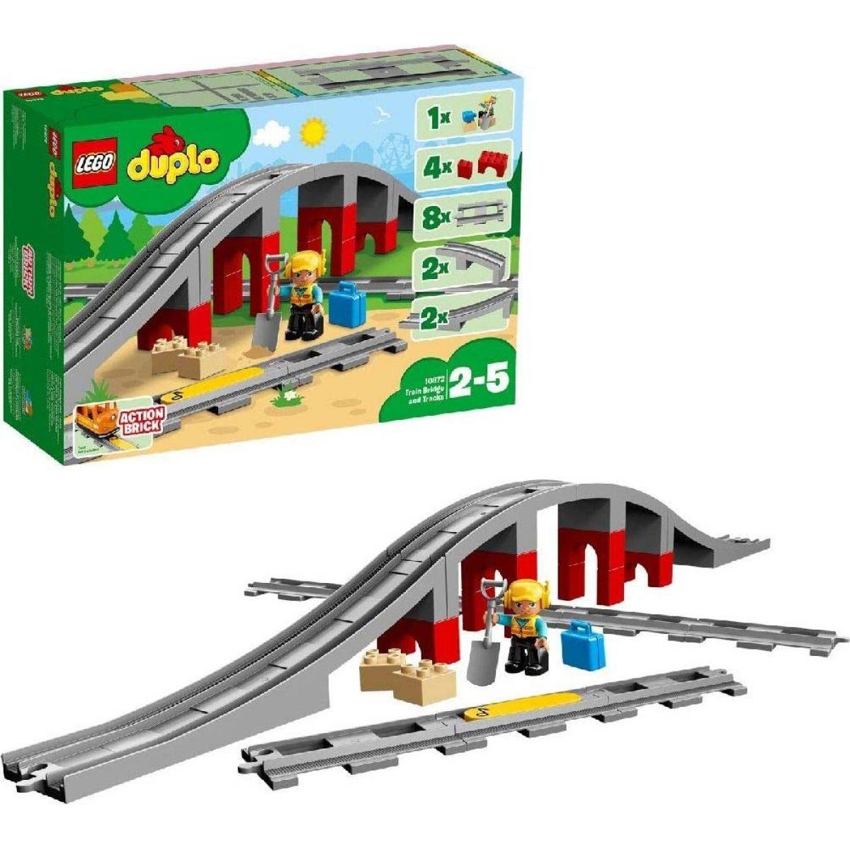 LEGO® DUPLO® 10872 Doplňky k vláčku Most a koleje