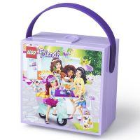 LEGO Friends box s rukojetí fialový