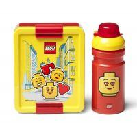LEGO Iconic Girl svačinový set láhev a box žlutá a červená