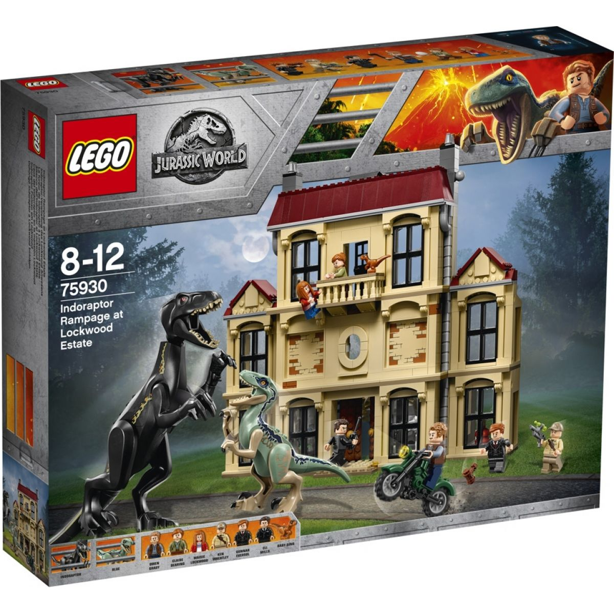 LEGO Jurassic World 75930 Řádění Indoraptora v Lockwoodu