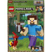 LEGO Minecraft 21148 velká figurka Steve s papouškem