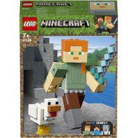 LEGO Minecraft 21149 velká figurka Alex s kuřetem