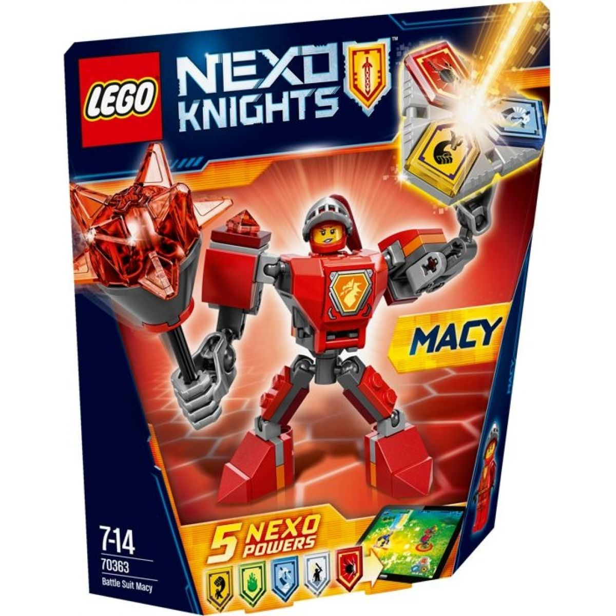 LEGO Nexo Knights 70363 Macy v bojovém obleku