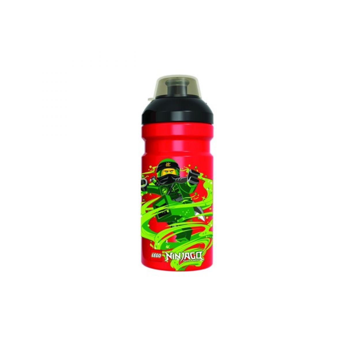 LEGO Ninjago Classic láhev na pití transparentní červená