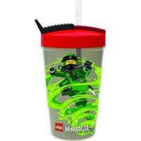 LEGO Ninjago Classic fľaša so slamkou červená