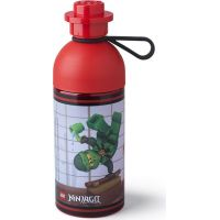 LEGO Ninjago láhev transparentní 0,5 L červená