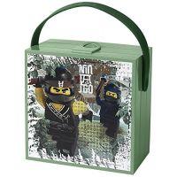 LEGO Ninjago Movie box s rukojetí army zelená
