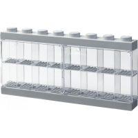 LEGO sběratelská skříňka na 16 minifigurek šedá