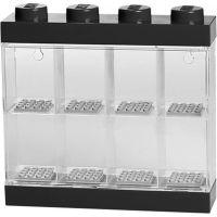 LEGO Sběratelská skříňka na 8 minifigurek černá