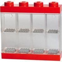 LEGO Sběratelská skříňka na 8 minifigurek červená