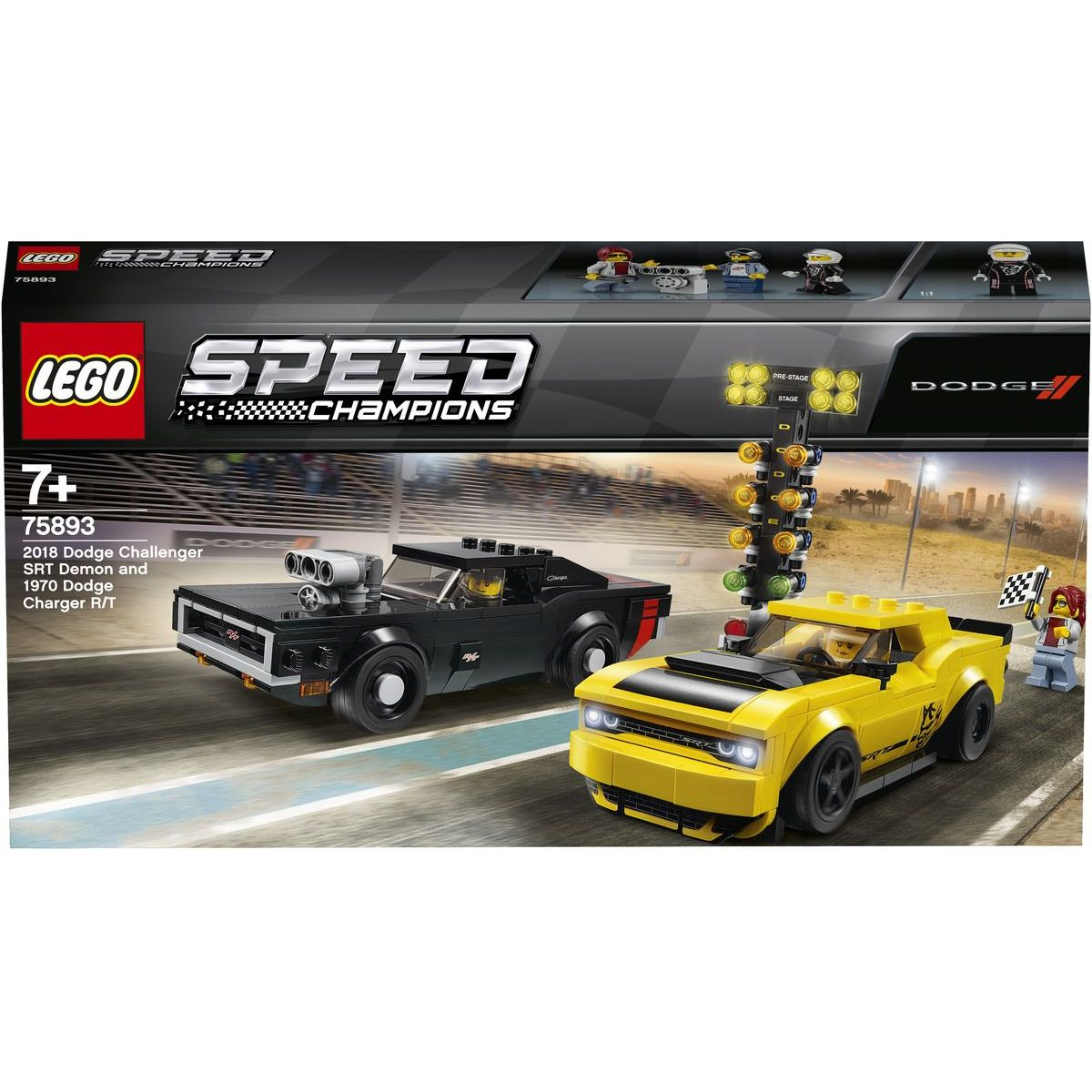 LEGO Speed Champions 75893 2018 Dodge Challenger SRT Demon a 1970