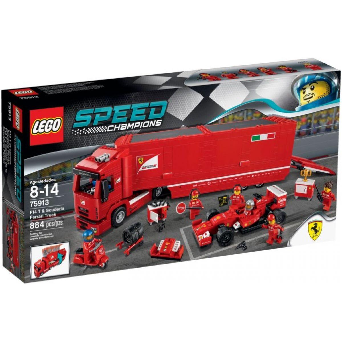 LEGO Speed Champions 75913 - Kamión pro vůz F14 T týmu Scuderia Ferrari