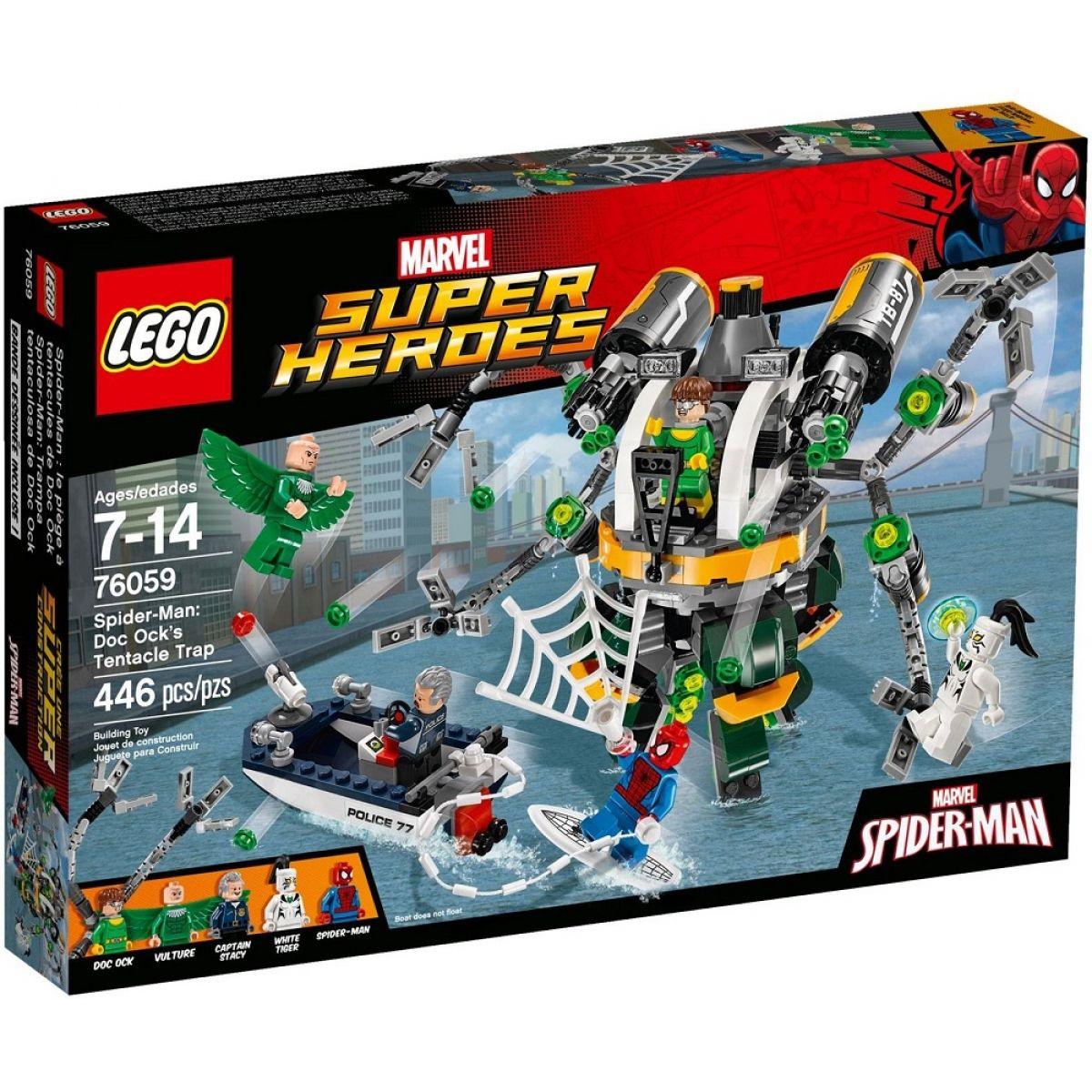 LEGO Super Heroes 76059 Spiderman Past z chapadel doktora Ocka