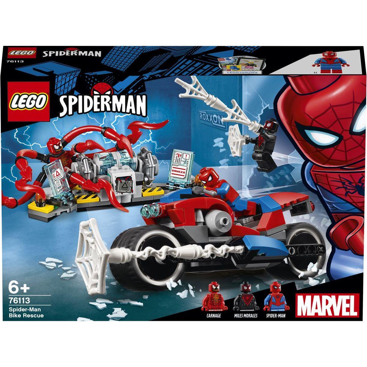 LEGO Super Heroes 76113 Spiderman a záchrana na motorce LEGO