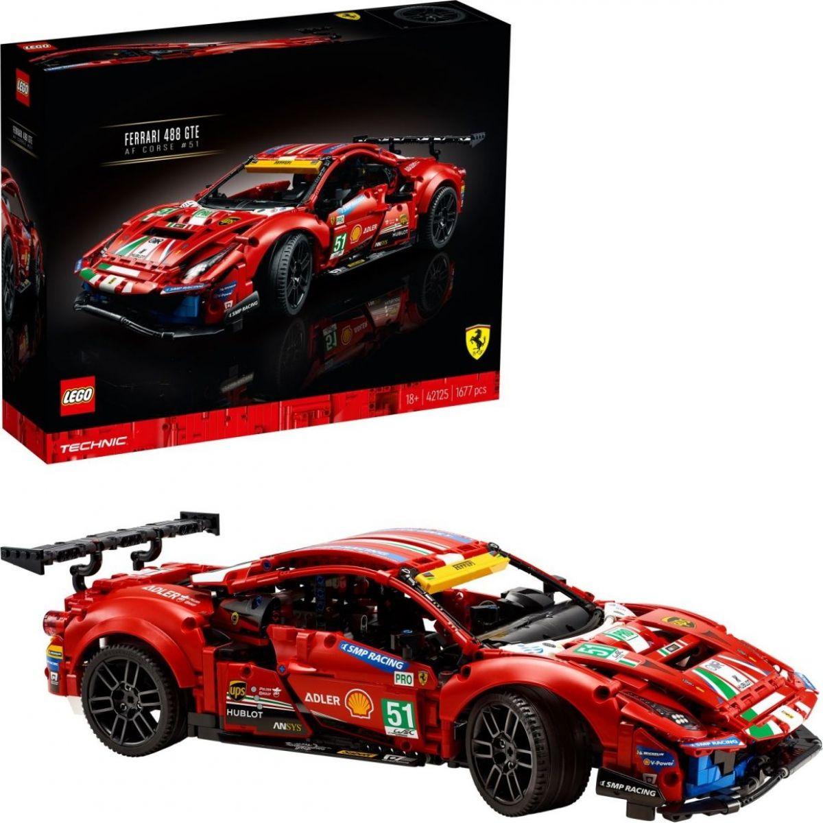 LEGO® Technic 42125 Ferrari 488 GTE AF Corse 51