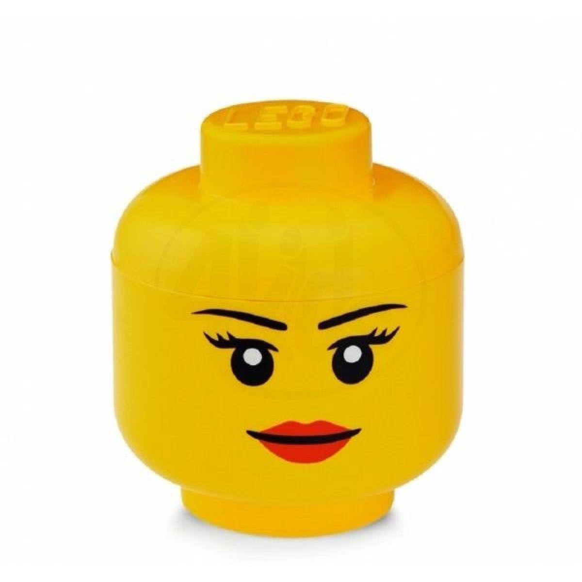 Room LEGO úložná hlava velikost S dívka