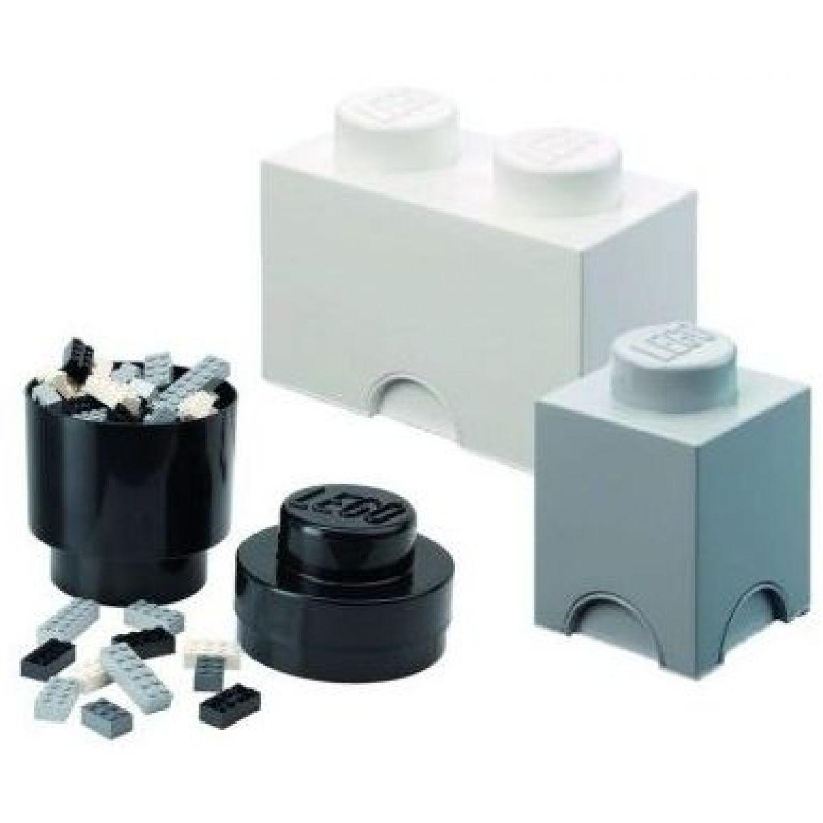 LEGO úložné boxy Multi-Pack 3 ks černá, bílá, šedá