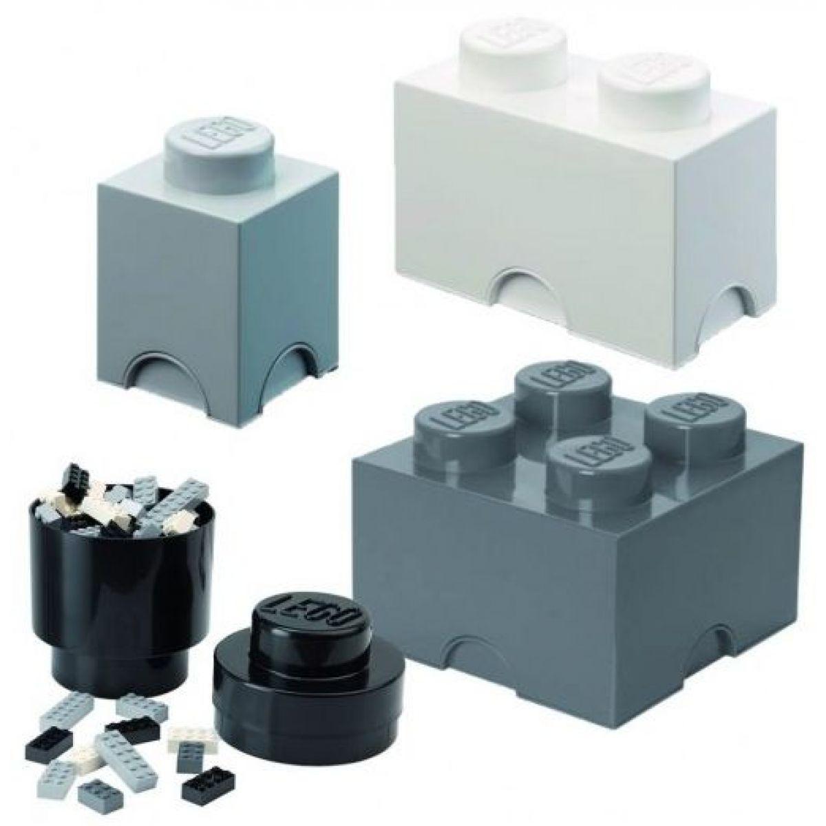 LEGO úložné boxy Multi-Pack 4 ks čierna, biela, šedá - Poškodený obal