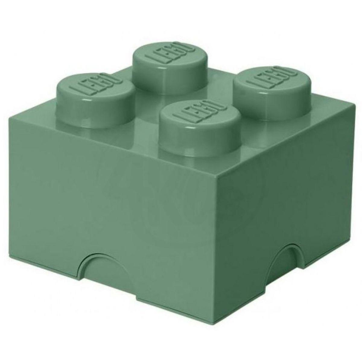 LEGO Úložný box 25 x 25 x 18 cm Army zelená